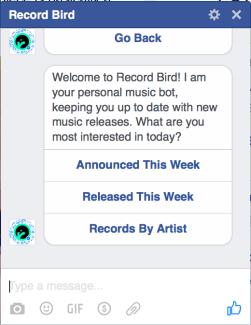 Record Bird Chatbot FB